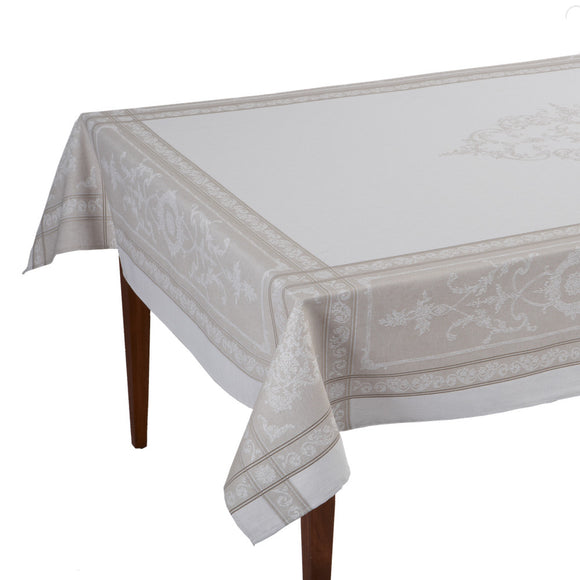Montmirail Naturel French Jacquard Tablecloth