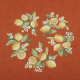 Citrons Orange Round Tablecloth