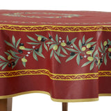 Ramatuelle Rouge Round French Tablecloth