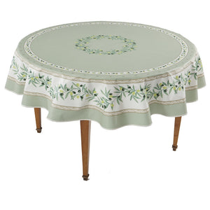 Ramatuelle Vert Round French Tablecloth