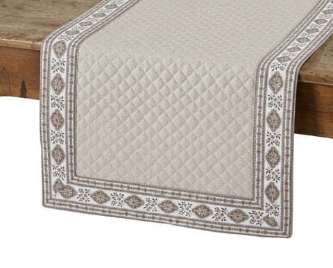 Esterel Naturel French Table Runner