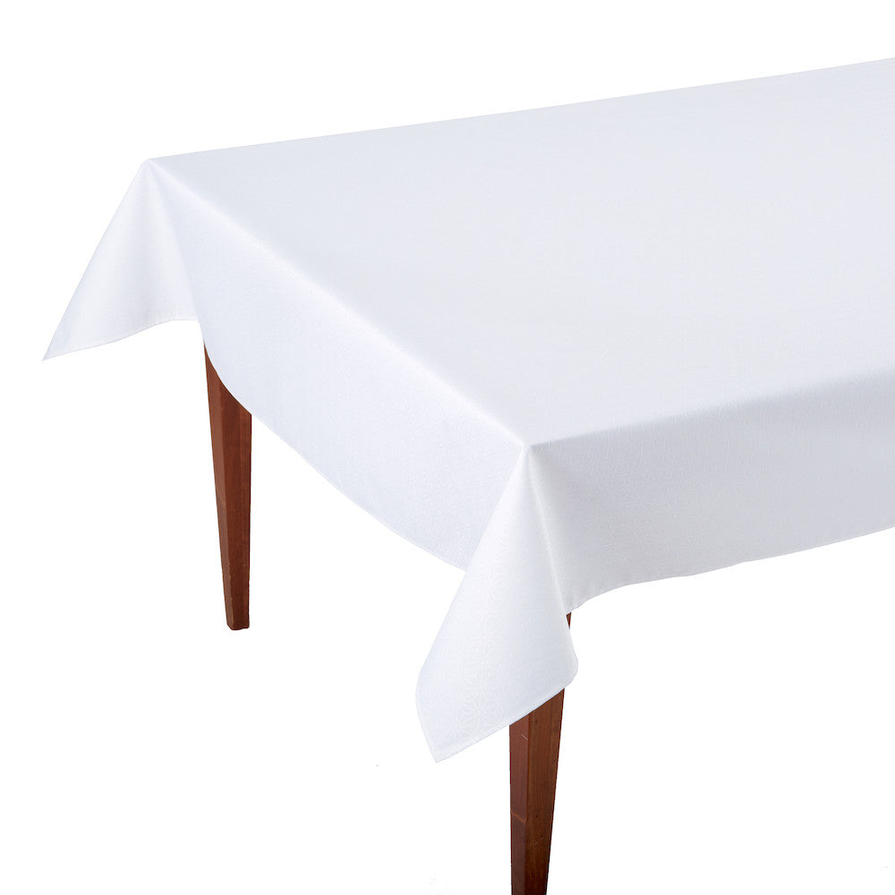 Kyoto White Rectangular Coated Tablecloth