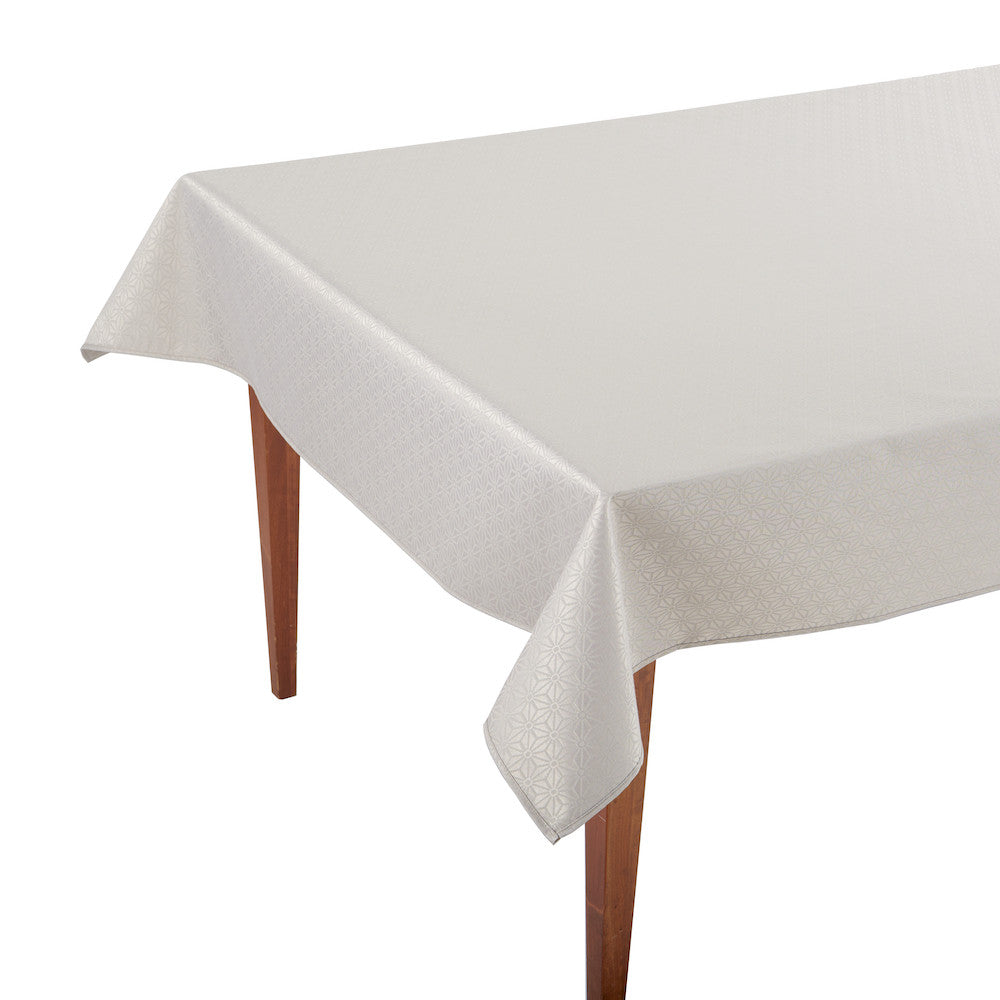 Kyoto Beige Rectangular Coated Tablecloth