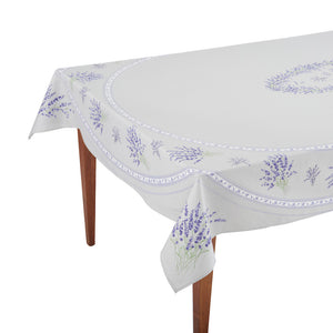Valensole Gris Rectangular French Tablecloth