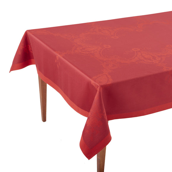 Luxe Versailles Griotte French Jacquard Tablecloth