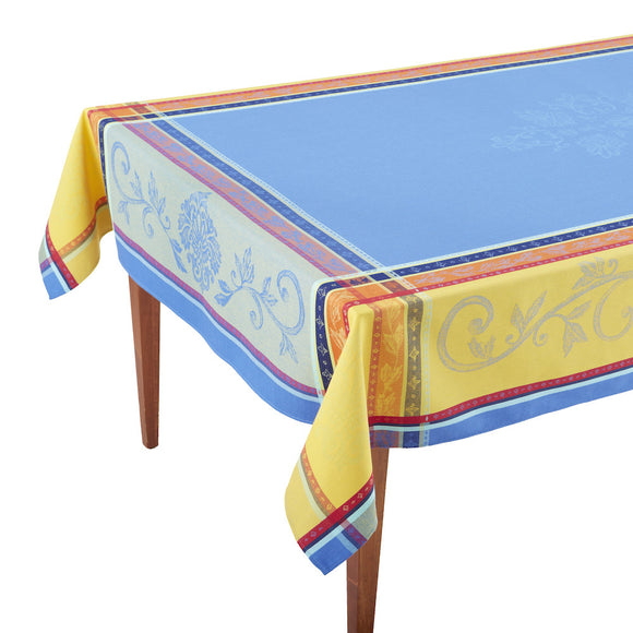Seguret Bleu French Jacquard Tablecloth