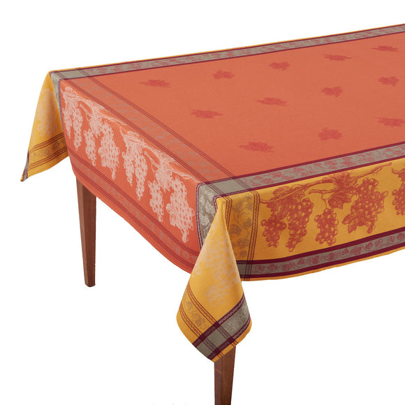 Tavel Terre Cuite French Jacquard Tablecloth