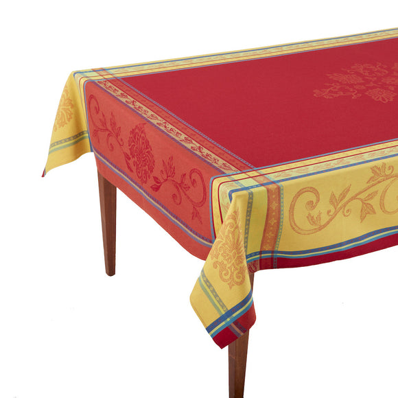 Seguret Rouge French Jacquard Tablecloth