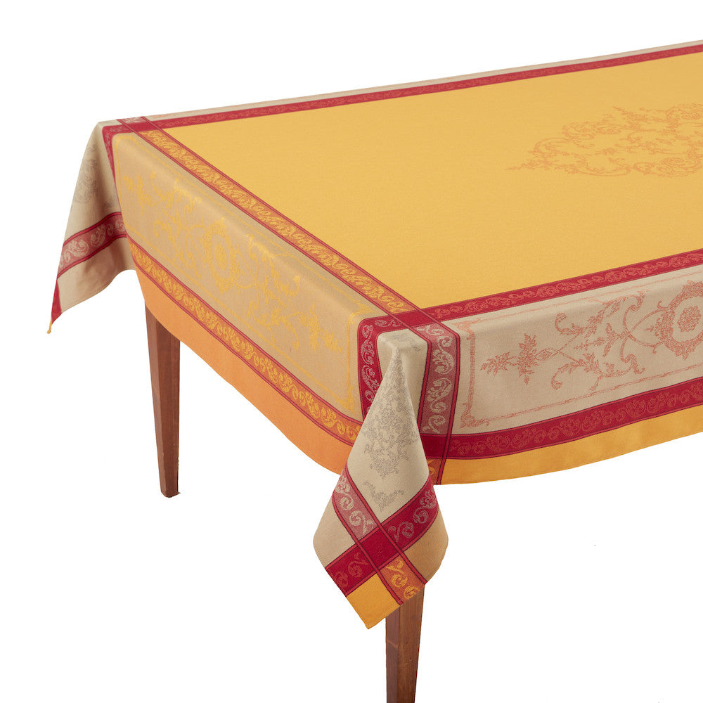Montmirail Safran French Jacquard Tablecloth