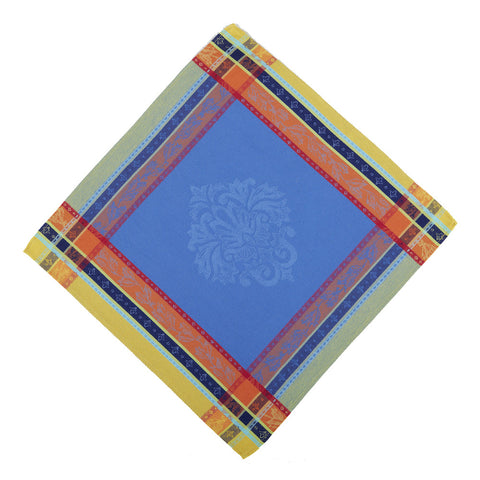 Seguret Bleu French Jacquard Napkin