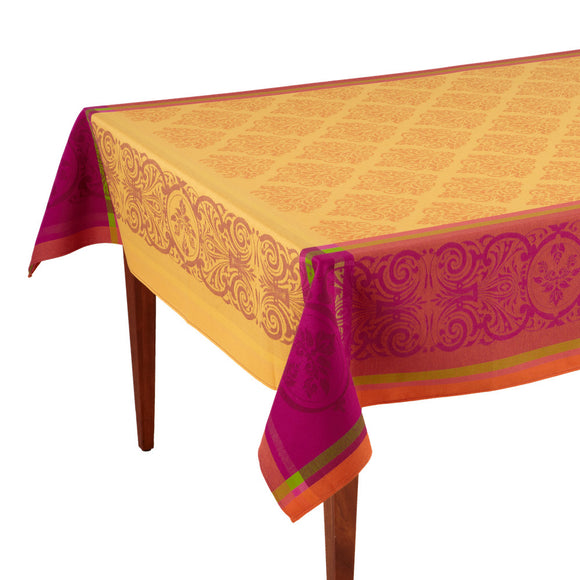 Valbonne Jaune/Orange French Jacquard Tablecloth