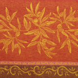 Olive Jaune/Rouge Jacquard French Tablecloth