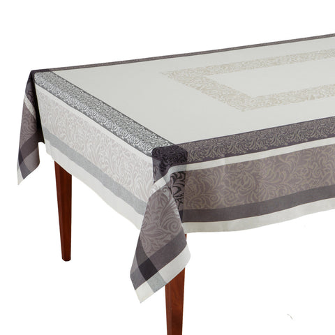 Bargeme Ecru/Gris French Jacquard Tablecloth