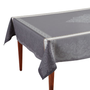 Dentelle Gris Jacquard French Tablecloth