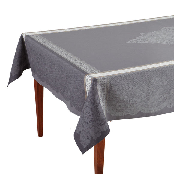 Dentelle Gris French Jacquard Tablecloth