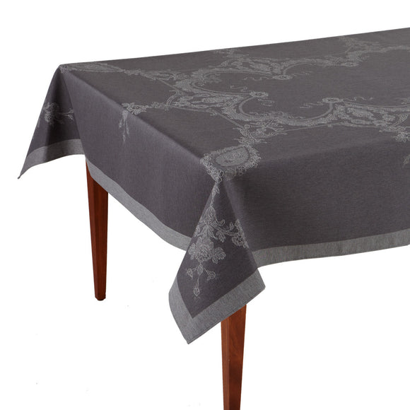 Luxe Versailles Gris French Jacquard Tablecloth