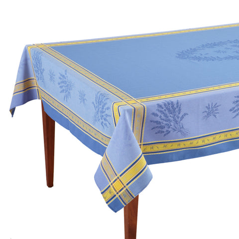 Senanque Bleu French Jacquard Tablecloth