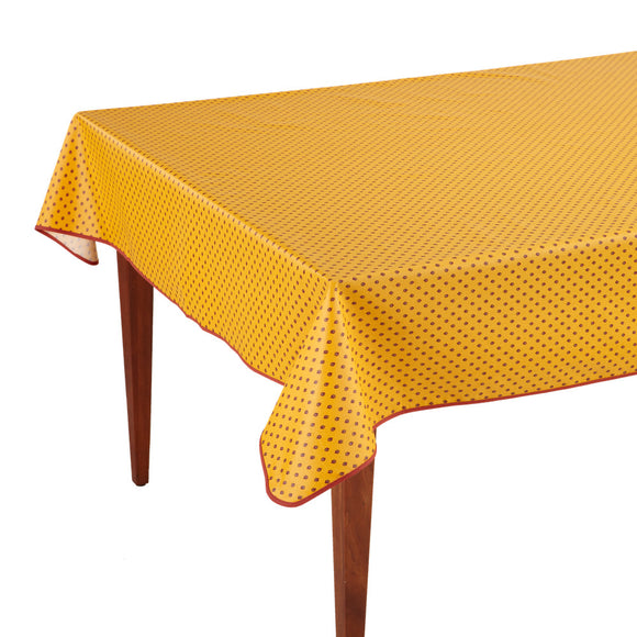 Esterel Safran Rectangular French Tablecloth