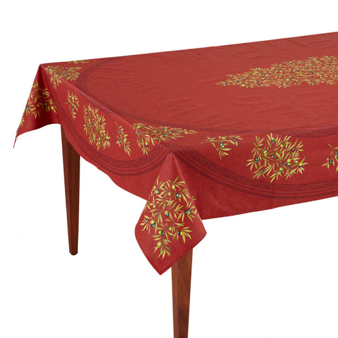 Clos des Oliviers Rouge Rectangular French Tablecloth