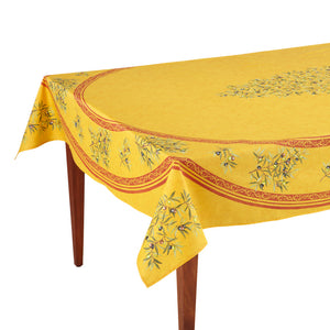 Clos des Oliviers Safran Rectangular French Tablecloth