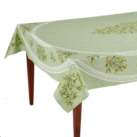Clos des Oliviers Amande Rectangular French Tablecloth