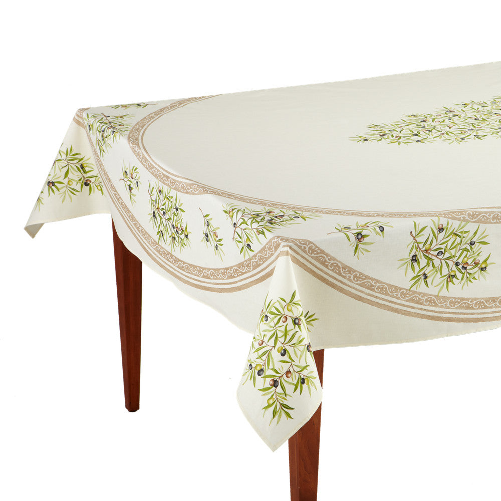 Clos des Oliviers Ecru Rectangular French Tablecloth