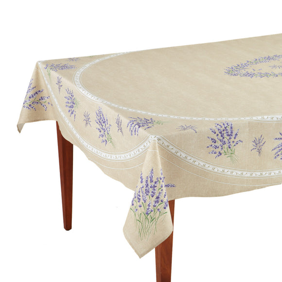 Valensole Beige Rectangular French Tablecloth