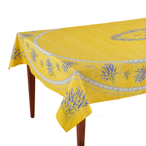Valensole Jaune Rectangular French Tablecloth