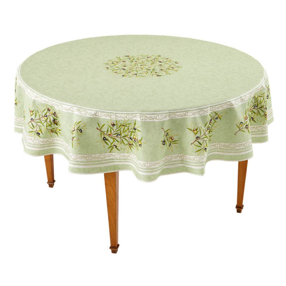 Clos des Oliviers Amande Round French Tablecloth