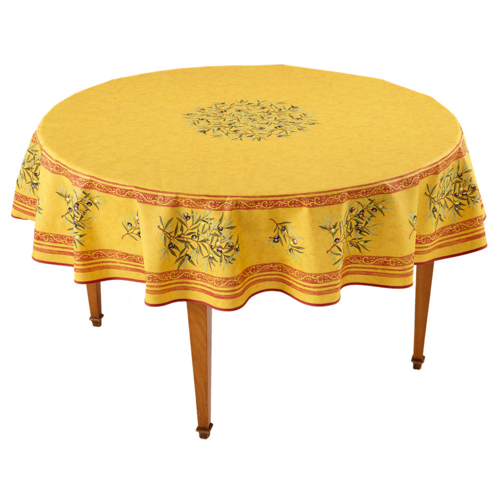 Clos des Oliviers Safran Round French Tablecloth