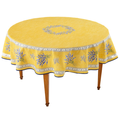 Valensole Jaune Round French Tablecloth