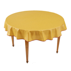 Esterel Safran Round French Tablecloth