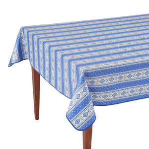Esterel Lavande Striped Rectangular French Tablecloth