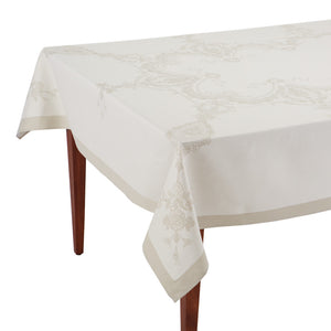 Luxe Versailles Naturel Jacquard French Tablecloth