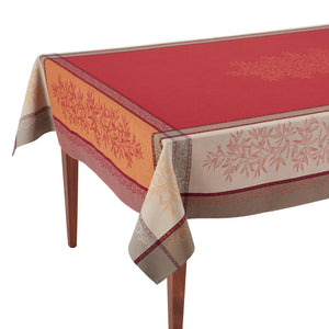 Olive Rouge Jacquard French Tablecloth