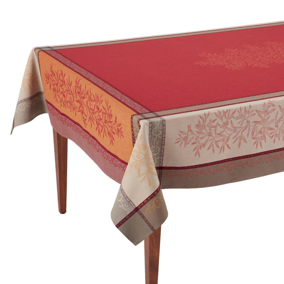 Olive Rouge French Jacquard Tablecloth