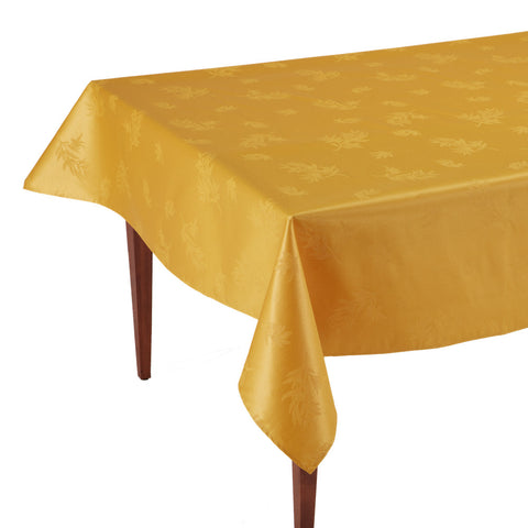 Le Sud Jaune Rectangular Coated Jacquard Tablecloth