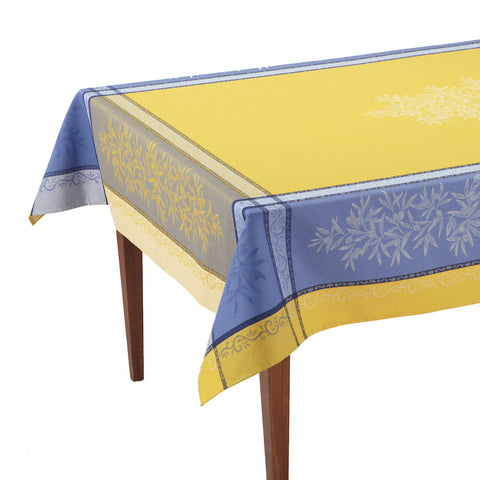 Olive Jaune/Bleu French Jacquard Tablecloth