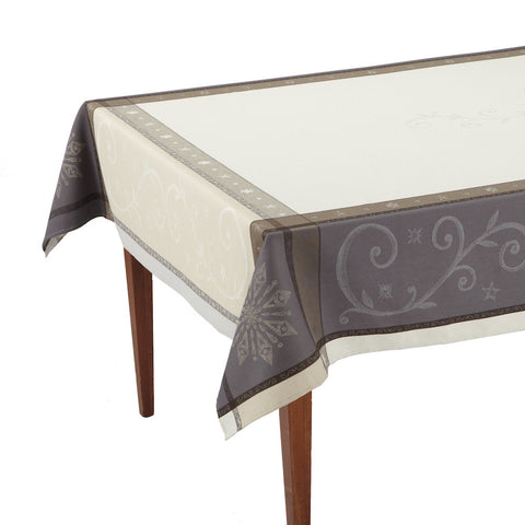 Champagne Ecru French Jacquard Tablecloth