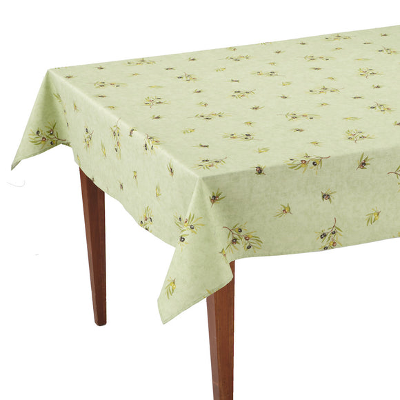 Clos des Oliviers Amande All Over Rectangular French Tablecloth