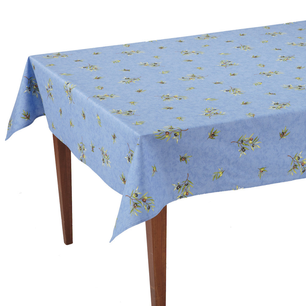 Clos des Oliviers Bleu All Over Rectangular French Tablecloth