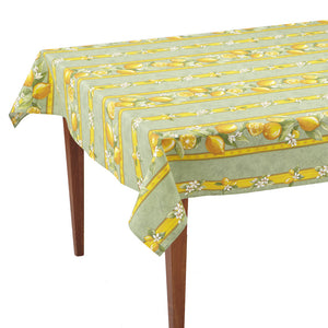Citrons Vert Striped Rectangular French Tablecloth