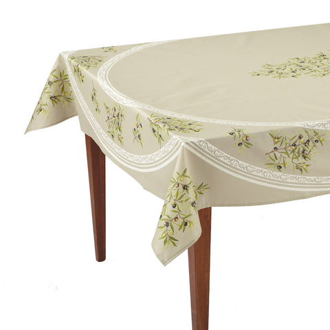 Clos des Oliviers Taupe Rectangular French Tablecloth