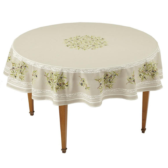 Clos des Oliviers Ficelle Round French Tablecloth