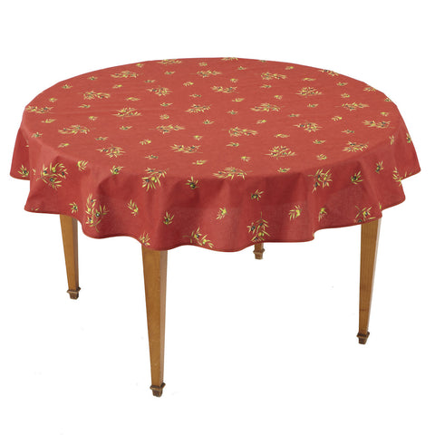 Clos des Oliviers Rouge All Over Round French Tablecloth