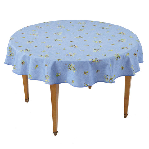 Clos des Oliviers Bleu All Over Round French Tablecloth