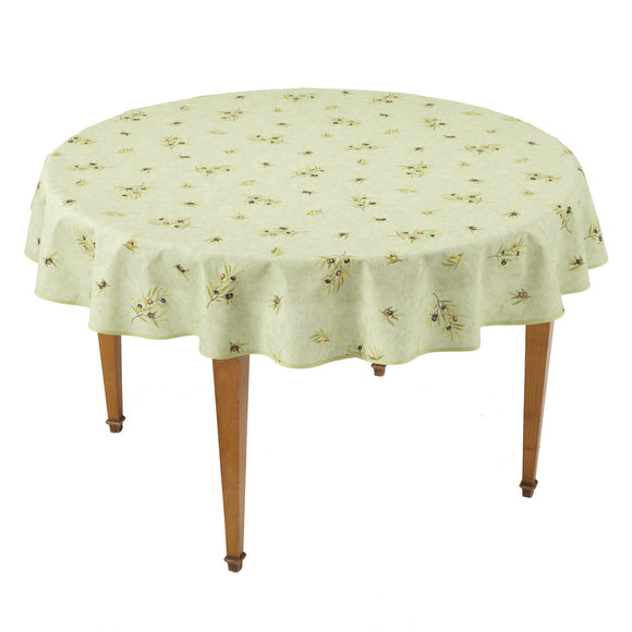 Clos des Oliviers Amande All Over Round French Tablecloth