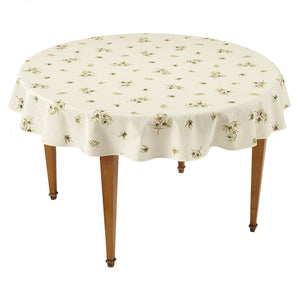 Clos des Oliviers Ecru All Over Round French Tablecloth