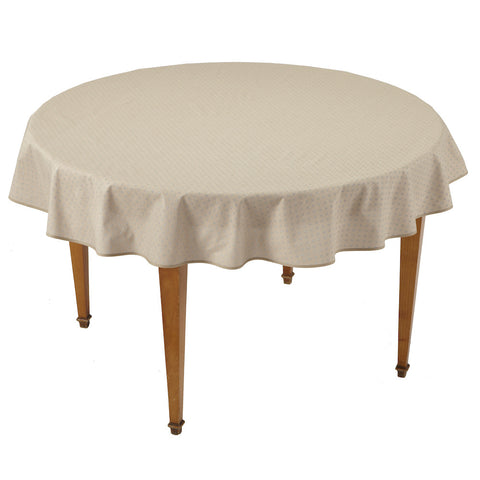 Esterel Naturel Round French Tablecloth