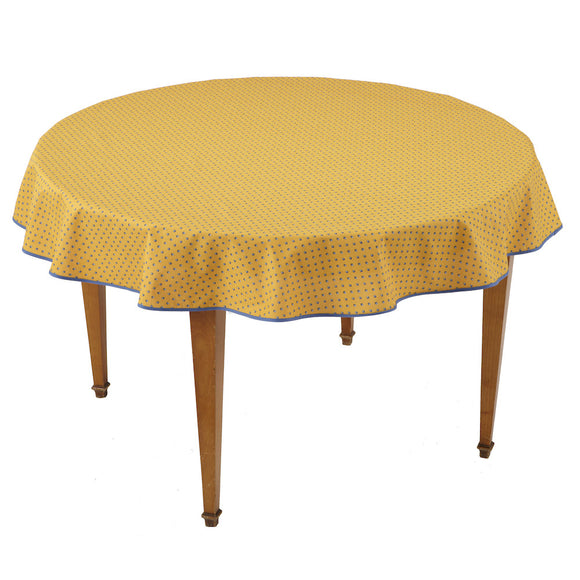 Esterel Jaune/Bleu Round French Tablecloth